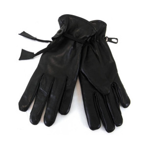Vance VL454 Womens Black Soft Leather Lined Motorcycle Riding Gloves