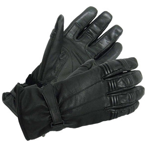 Vance VL462 Mens Black Premium Padded Driving Gloves