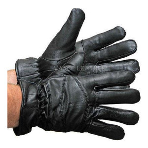 Vance VL444 Mens Black Leather Lightweight Lined Gloves