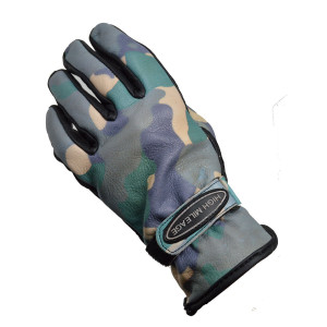 High Mileage HMG440 Mens Camo Leather Motorcycle Gloves
