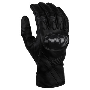 Vance GL704 Mens Black Hard Knuckle Motorcycle Racer Leather Gloves