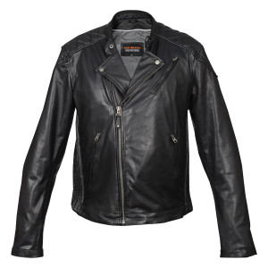 High Mileage Leather Jacket with Diamond Stitched Shoulders