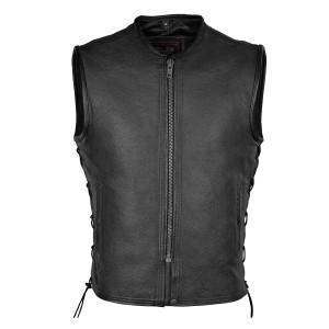 Men's Premium High Mileage Leather Vest