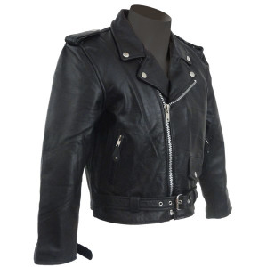 Kids Motorcycle Leather Jacket