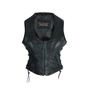 High Mileage HML1042 Womens Lady Biker Leather Motorcycle Vest