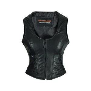 High Mileage HML1041 Womens Lady Biker Leather Motorcycle Vest