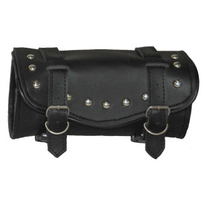 Vance Leather 2 Strap Studded Hard Shell Tool Bag