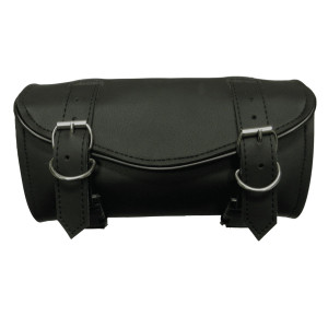 Vance Leather 2 Strap Plain Hard Shell Tool Bag With V-Shaped Flap