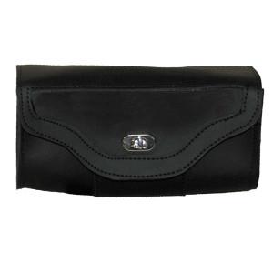Vance VS105H Black Motorcycle Toolbag Handlebar Bag