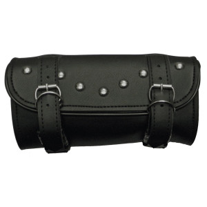 Vance Leather Hard Shell 2 Strap Studded Tool Bag With Quick Releases