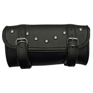 Vance VS108H Black Studded Motorcycle Toolbag Handlebar Bag