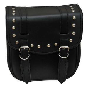 Vance VS305 Small 2 Strap Studded Motorcycle Sissy Bar Bag for Harley Davidson Motorcycles
