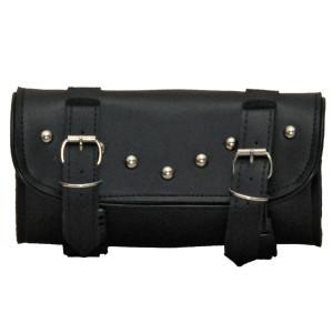 Vance VS112 Black Studded Motorcycle Handlebar Bag