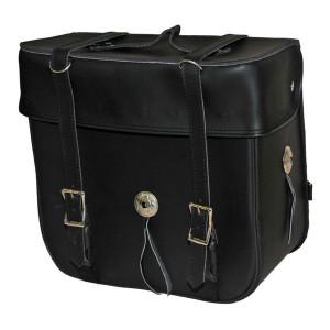 Vance Leather Medium 2 Strap Plain Sissy Bar Bag