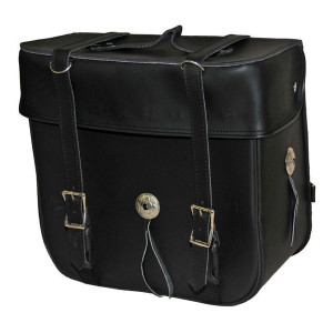 Vance VS315 Black PVC Medium Motorcycle Travel Luggage Sissybar Bag