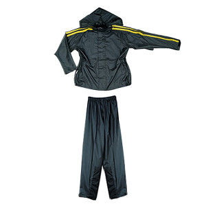 Mens RS5005 Yellow Two Piece Motorcycle Rain Gear