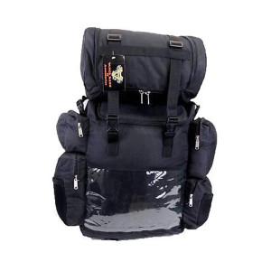 Vance VS324 Black Nylon Large Motorcycle Travel Luggage Sissy Bar Bag
