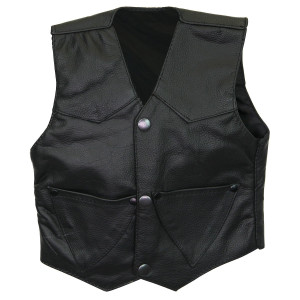 Infant Plain Leather Vest