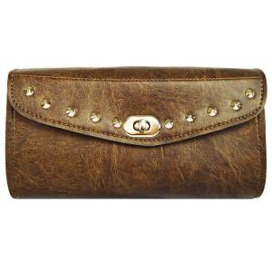 Distressed Brown 10 Stud Tool Bag