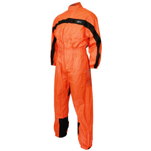 Mens RS5004 High Visibility Orange One Piece Motorcycle Rainsuit Rain Gear