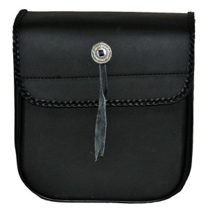 Vance VS303 Small Braided Motorcycle Sissy Bar Bag for Harley Davidson Motorcycles