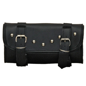 Vance Leather Hard Shell 2 Strap Studded Quick Release Tool Bag