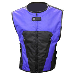 Vance Leather Textile Tactical Vest - Blue