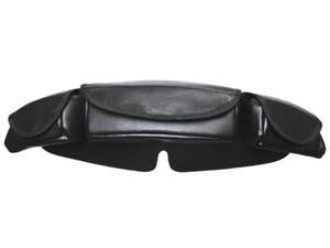 Vance VS189B Black Three Pocket Motorcycle Windshield Bag for Indian Honda Yamaha Kawasaki and Harley Davidson Motorcycles