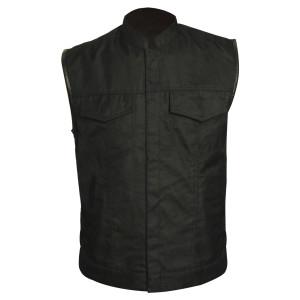Vance VL1911 Mens Black Patch Holder Textile Motorcycle Vest