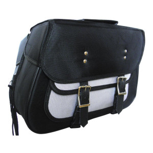 Medium Slant Textile Saddle Bag