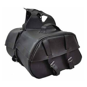 Vance VS221 Black Motorcycle Saddlebags for Honda Yamaha Kawasaki Indian and Harley Davidson Motorcycles