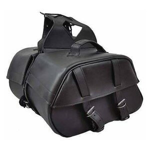 Vance VS222 Black Motorcycle Saddlebags for Honda Yamaha Kawasaki Indian and Harley Davidson Motorcycles