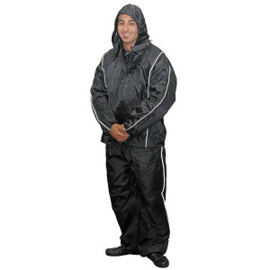 Vance VL2215 Men's Heavy Duty Reflective Rainsuit Motorcycle Rain Gear