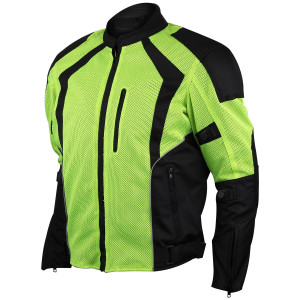 Advanced Vance VL1623HG Mens All Weather Season CE Armor Mesh Motorcycle Jacket