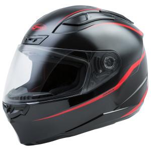 GMax FF88 Precept Helmet - Black Red