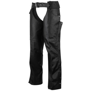 Black Deep Jean Pocket Leather Chaps