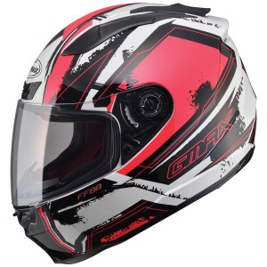 GMax FF88 X-Star Multi Helmet - White Red