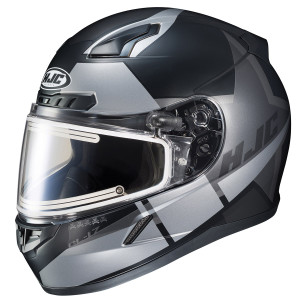 HJC CL-17 SN Boost Helmet With Electric Shield -  Black/Silver