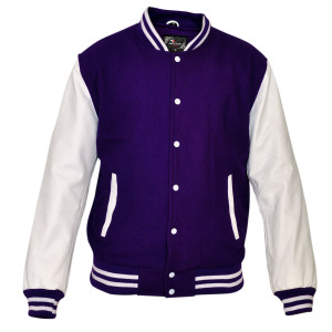 Mens MJ590 Wool with Real Leather Premium Varsity Letterman Jacket