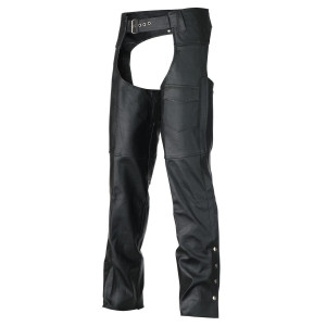 Vance Leather VL805S Mens and Womens All Season Black Zip-out Insulated Thermal Liner Biker Leather Motorcycle Chaps