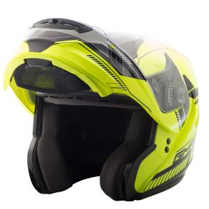GMax MD04 Hi-Viz Modular Helmet - Open View