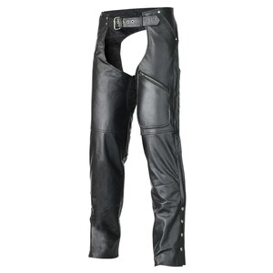 Vance Leather VL804 Unisex All Season Black Pant Style Premium Cowhide Motorcycle Leather Chaps
