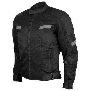 Advanced Vance VL1622B Mens All Weather Season CE Armor Mesh Motorcycle Jacket