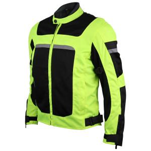 Advanced 3-Season Hi-Vis Mesh/Textile CE Armor Motorcycle Jacket