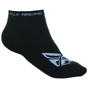 Fly No Show Socks - Black/White