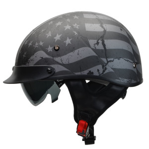 Vega Rebel Warrior Patriotic Flag Half Helmet