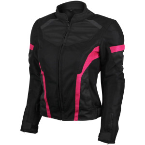 Advanced Vance VL1674P Womens All Weather Season CE Armor Mesh Motorcycle Jacket
