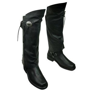 Black Leather Half Chaps