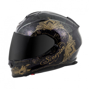 Scorpion EXO-T510 Azalea Helmet - Black Gold
