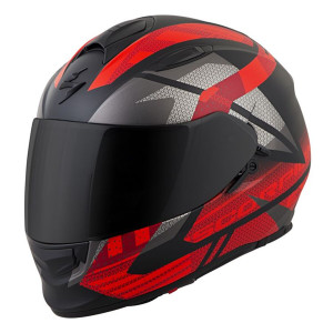 Scorpion EXO-T510 Fury Helmet - Black Red